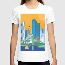 Frankfurt, Germany - Skyline Illustration by Loose Petals T-shirt