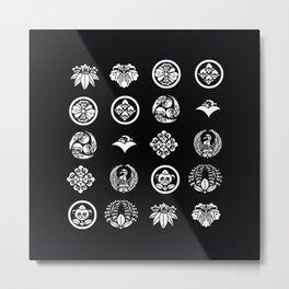 Pug Kamon Metal Print