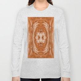 159 - Rust abstract design Long Sleeve T-shirt