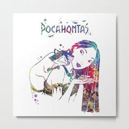 Pocahontas and Meeko Metal Print