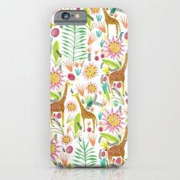 Giraffe in the jungle iPhone Case