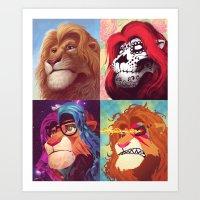 simba Art Prints featuring Simba by Martronix