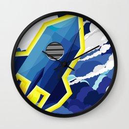 flyng rocket in space Wall Clock