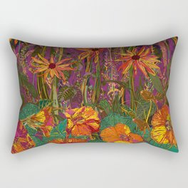 You Can Get By (Autumn Flowers) Rectangular Pillow