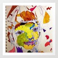 'Fragmented 13' Art Print