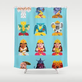 Indian Box Dolls Shower Curtain