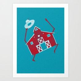 Barn dance Art Print
