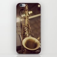 saxophone iPhone & iPod Skins featuring Saxophone by KimberosePhotography