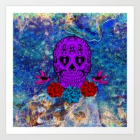 sugar skull Art Prints featuring Sugar Skull by haroulita