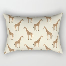 Giraffe animal minimal modern pattern basic home dorm decor nursery safari patterns Rectangular Pillow