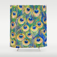 Peacock Freathers Shower Curtain