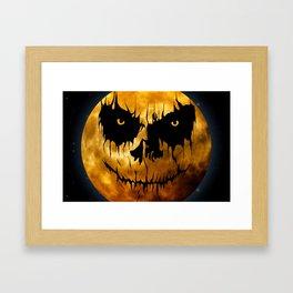 Halloween Creepy Moon Framed Art Print