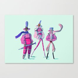 Glitter Warriors Canvas Print