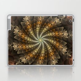 Shiny Spiral, Modern Abstract Fractal Art Pattern Design Laptop & iPad Skin