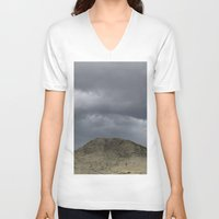 desert V-neck T-shirts featuring Desert by AlanW