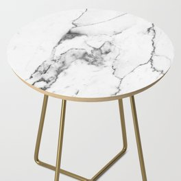 White Marble I Side Table