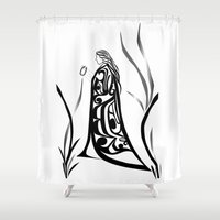 medicine Shower Curtains featuring Medicine Woman by Lou-ann Neel Studio