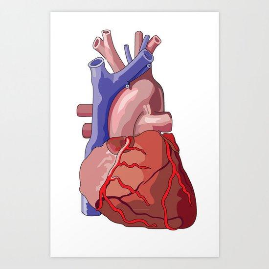Vector Heart Art Print