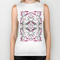 calligraphy Biker Tanks featuring Abstract Calligraphy  by Martha Calderon