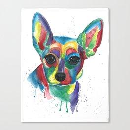 Roxy Colorful Rat Terrier Canvas Print