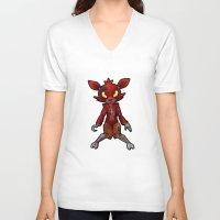 fnaf V-neck T-shirts featuring FNAF Foxy by Draikinator