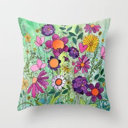 Purple Plum Parfait Throw Pillow
