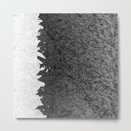 Ombre White and Black Urban Camouflage Metal Print