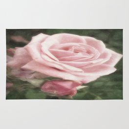 Pink Roses in Anzures 2 Nostalgic Rug