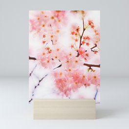 Cherry pink blossoms watercolor painting #13 Mini Art Print