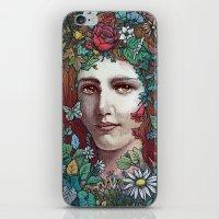 flora iPhone & iPod Skins featuring Flora by Alvaro Arteaga