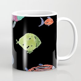 Fishies Black Coffee Mug