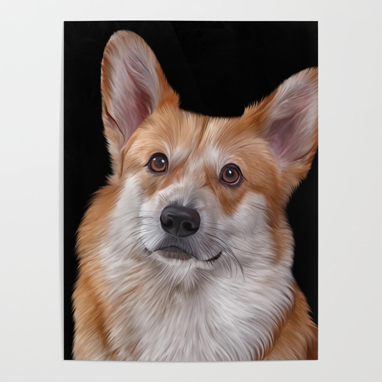 Drawing Dog Breed Welsh Corgi 1 Poster By Bonidog Society6