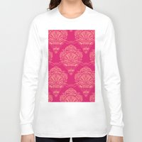 damask Long Sleeve T-shirts featuring Damask by cactus studio