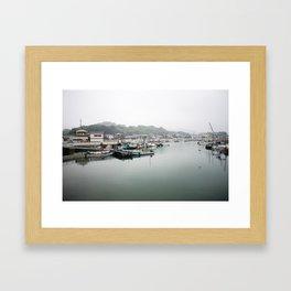 Japanese Fishing Village on Naoshima Framed Art Print