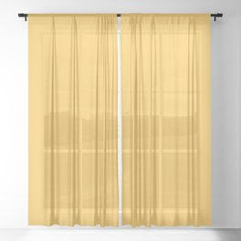Sunshine Yellow Solid Color Sheer Curtain