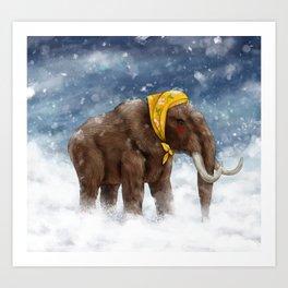 Babushka Mammoth Art Print