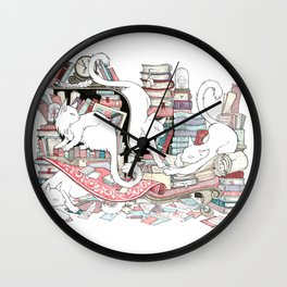 Acqua Alta bookstore, Venice Wall Clock