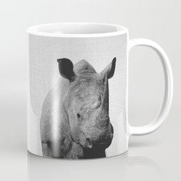 Rhino - Black & White Coffee Mug