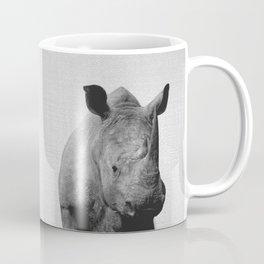 Rhino - Black & White Coffee Mug