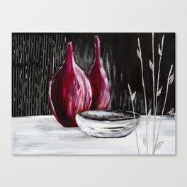 Black white still life painting Canvas Print