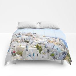 Fira, Santorini Greece Comforters