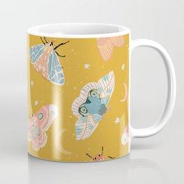 Moth & Moon Pattern - Gold Coffee Mug