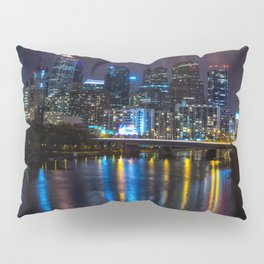 Philly Skyline Glowing Pillow Sham