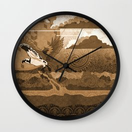 Osprey Monochrome Wall Clock