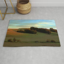 Last Moments of Sunset Glow, Sonoma County Hills Rug