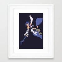 kingdom hearts Framed Art Prints featuring Kingdom Hearts - Aqua by TracingHorses
