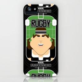 Rugby Black - Maul Propknockon - June version iPhone Case