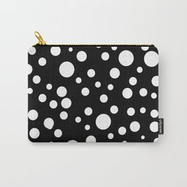 Geometric print black and white circles minimalist scandinavian Carry-All Pouch