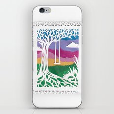 Sunset Swing Papercut iPhone & iPod Skin