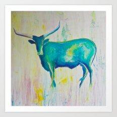 Texas Blues Art Print